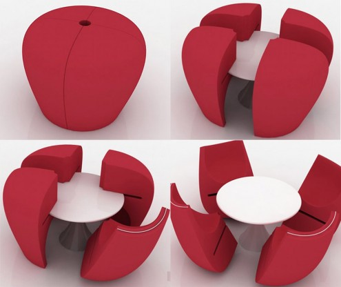 modern red table design