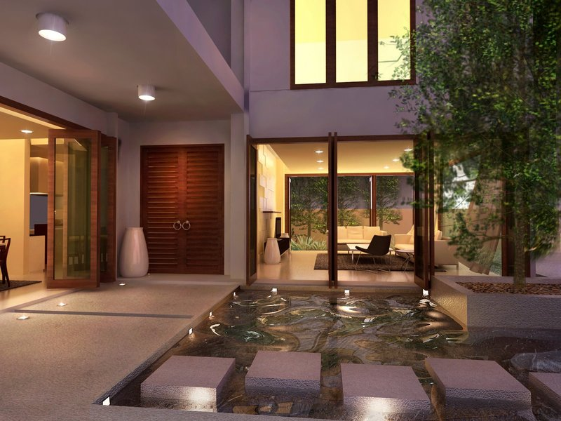 Dreams homes interior design luxury interior courtyards for Home designs with courtyards