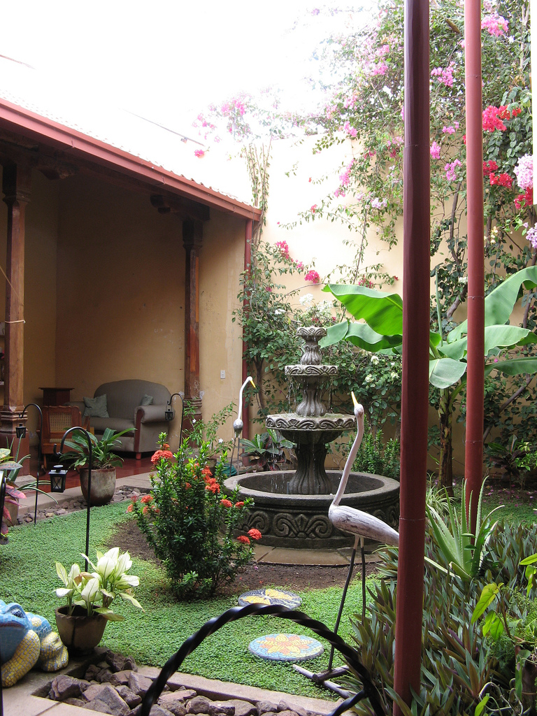 Interior courtyards for Kerala garden designs