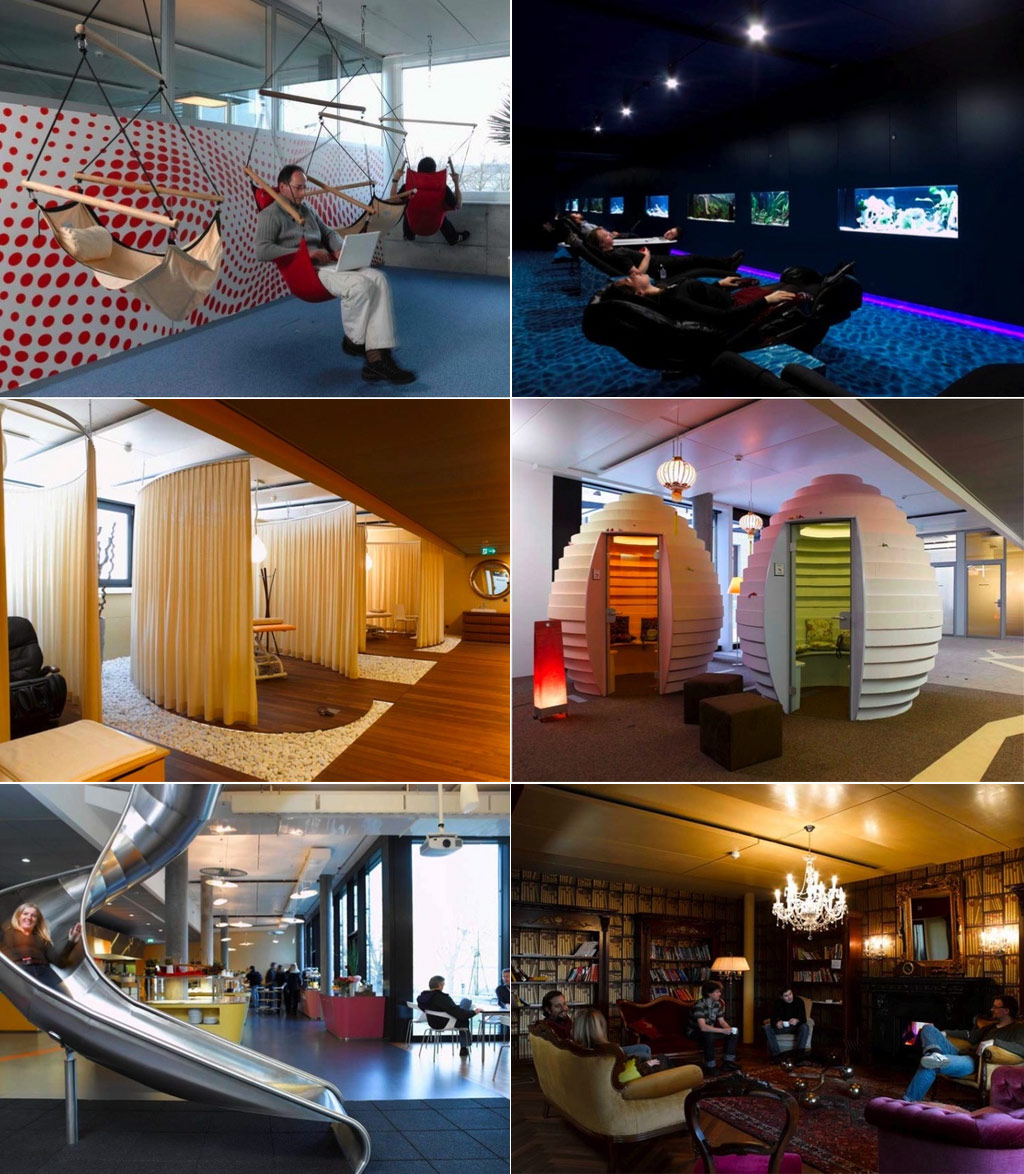 Creative offices amazing workplaces Top interior design companies in the world
