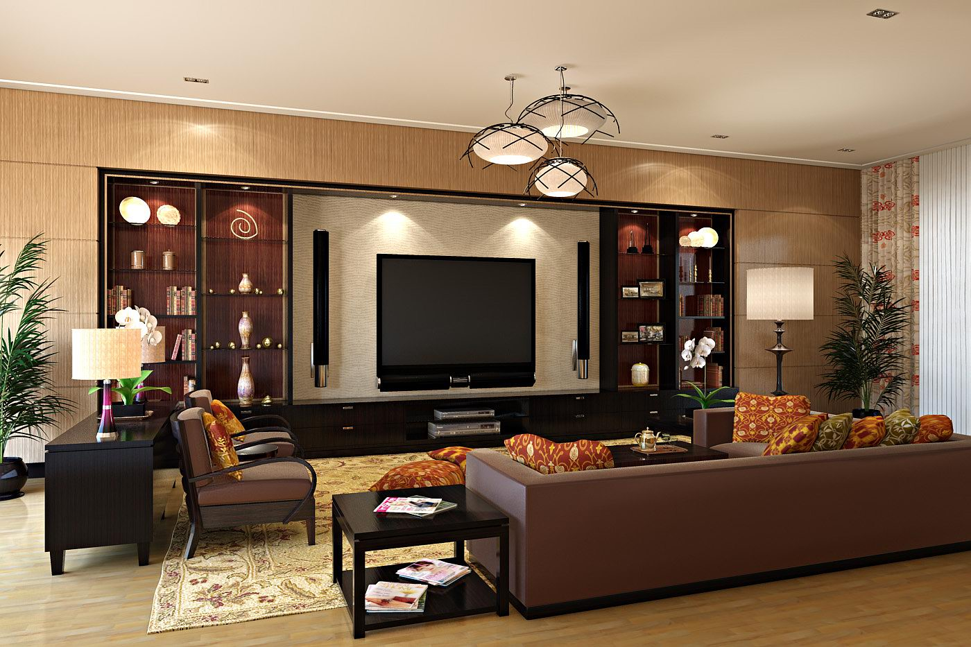 Living Room Decorating Ideas With Entertainment Center ~ Decorzt