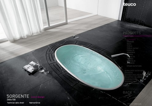 bath tub layout
