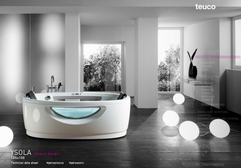 modern bath tub