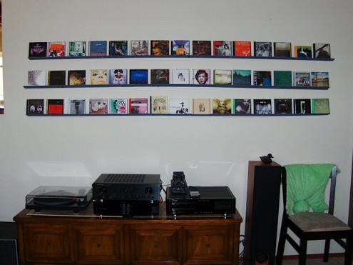 cd storage on wall