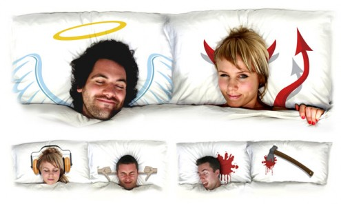 Angel and Devil Pillow