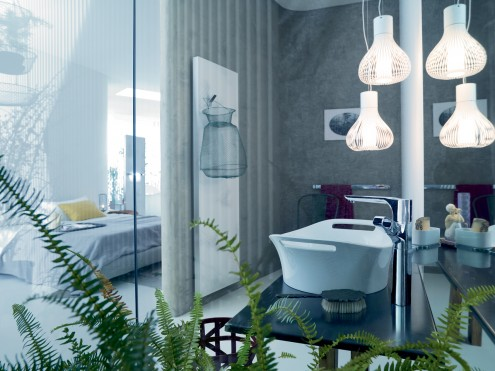 Open Bathroom Designs With Natural Concept