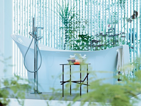 stylish bathtub