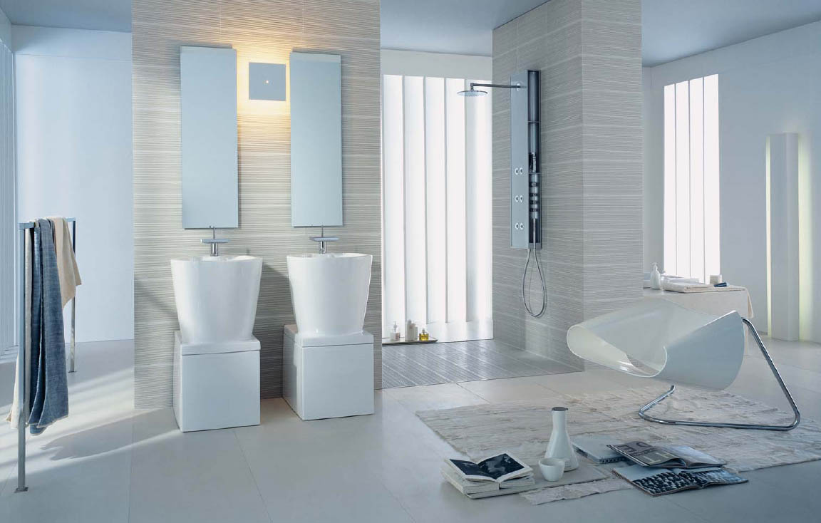 Bathroom design ideas and inspiration for Bathroom interior design white