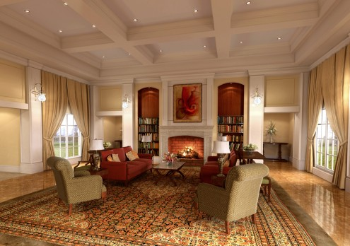 A Room Decorated In Classic Style