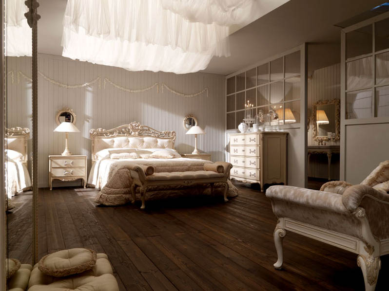 Italian interior design for Romantic master bedroom designs