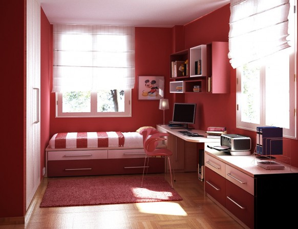 kids room red