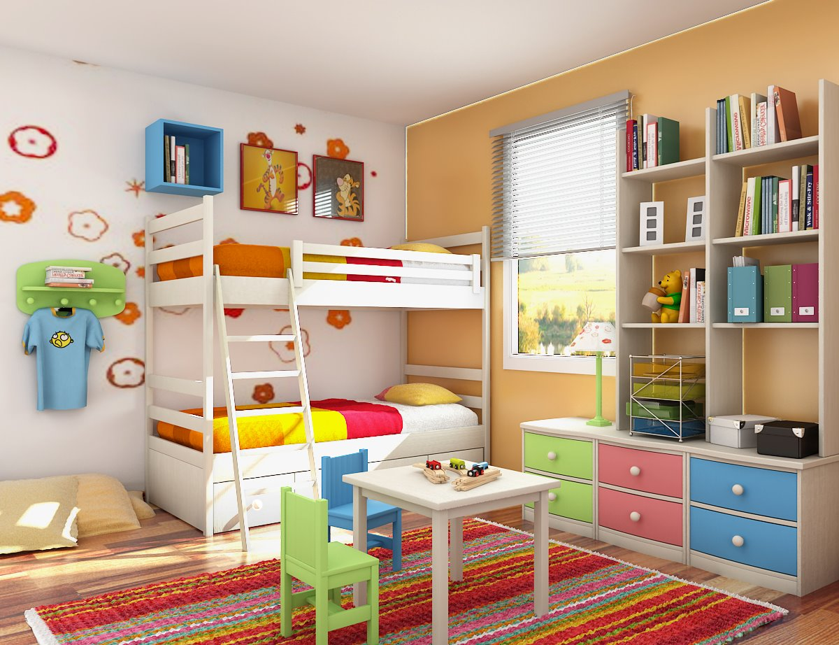 Children bed designs home design for Girls bedroom decorating ideas with bunk beds
