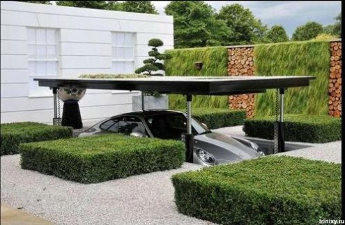 fantastic secret garage design