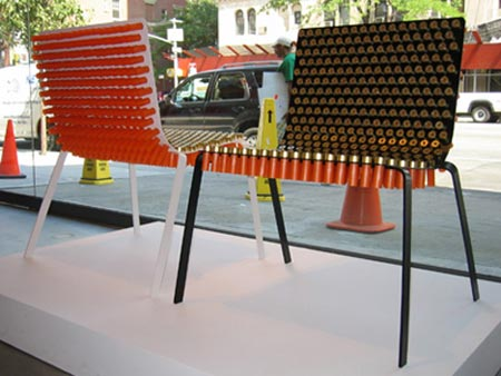 Furniture Home Design on First Up  A Chair Made From Gun Shells  You Never Really Know When