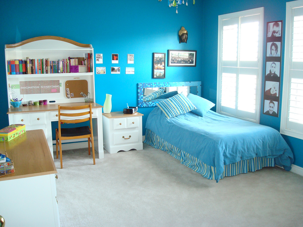 Blue Teen Girl Bedroom Ideas for Small Rooms