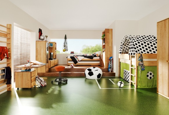 Sports themed kids room
