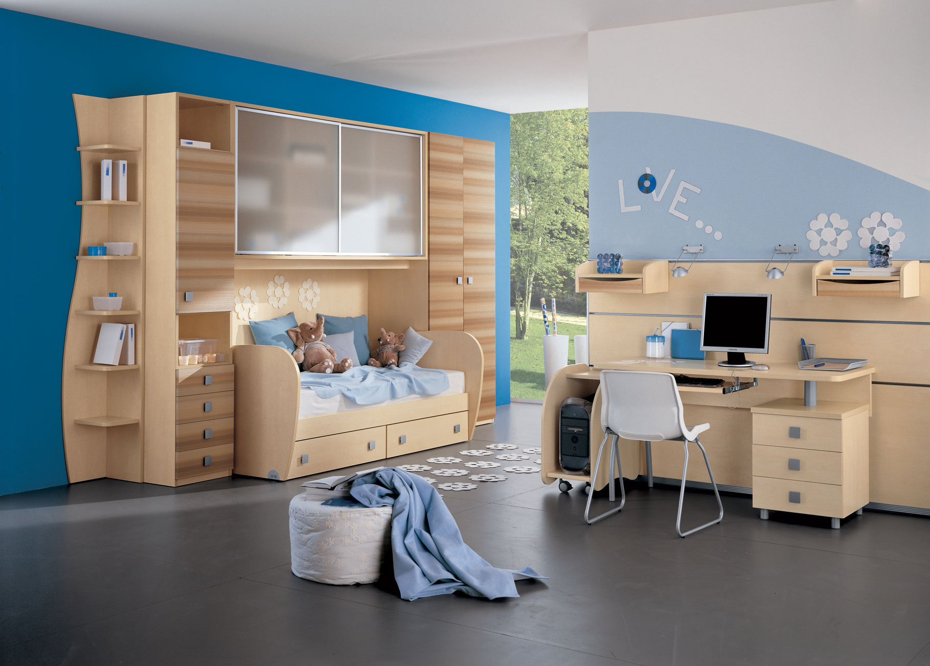 Kid 39 s rooms from russian maker akossta for Jugendzimmer modern design