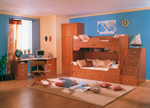 traditional kids study room