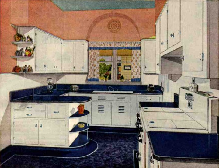 Retro kitchen design sets and ideas for Cuisine retro deco