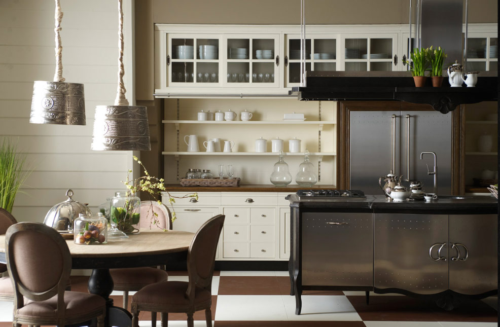 Old town and country style kitchen pictures for Classic style kitchen ideas