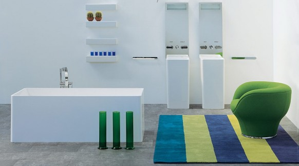 compact colour bathroom