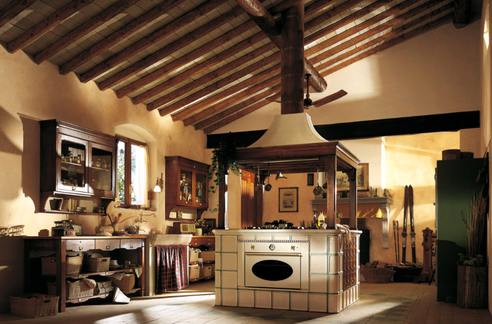 Country style kitchen pictures from marchi cucine for Country kitchen island designs