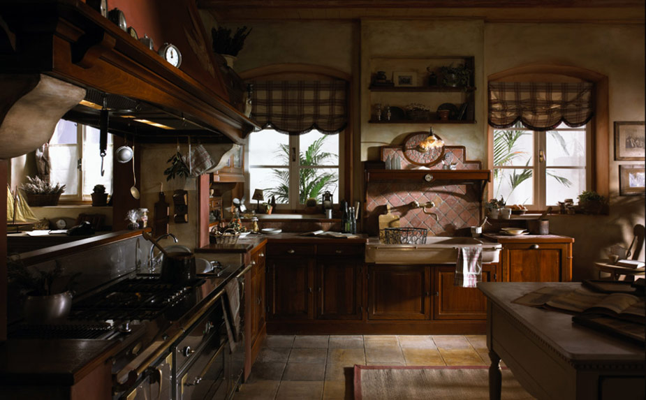 Old town and country style kitchen pictures for French country kitchen designs