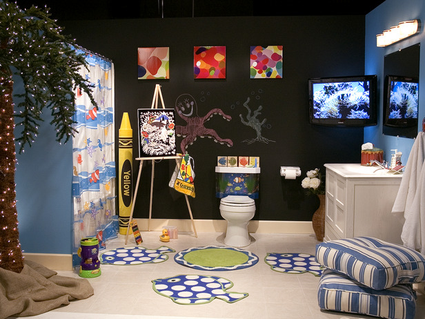 kids bathroom decorating For your children, the bathroom