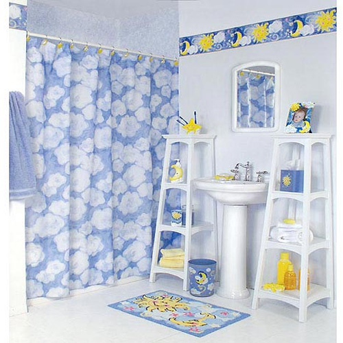 kids blue bathroom