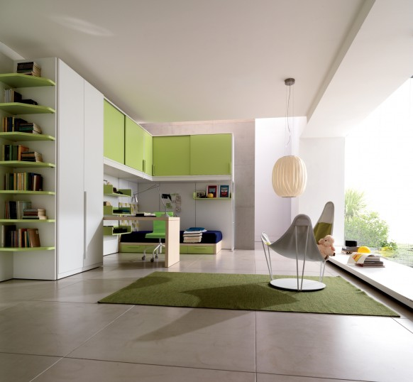 kids room green 582x538  