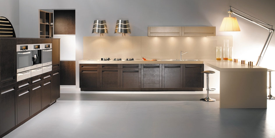 is black and white now your style how about some brown kitchen designs