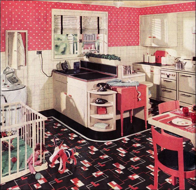 Retro kitchen design sets and ideas for Vintage kitchen designs photos
