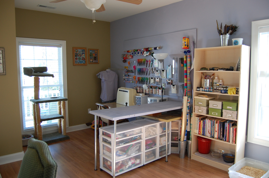 Craft room home studio ideas Sewing room designs