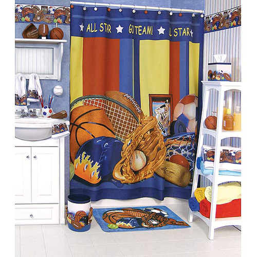Kids39 bathroom sets furniture and other decor accessories for Sports themed bathroom decor