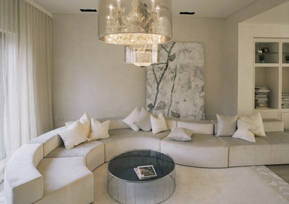 white reception room