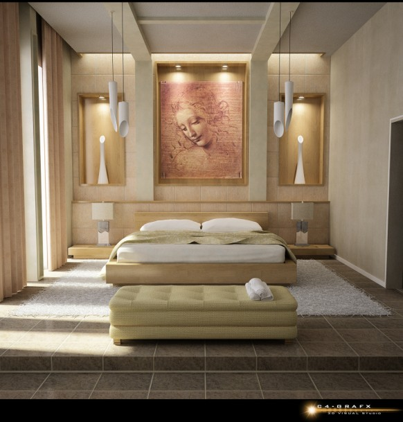 Bedroom Wall Design Ideas: 10 Beautiful Bedroom Interior Designs