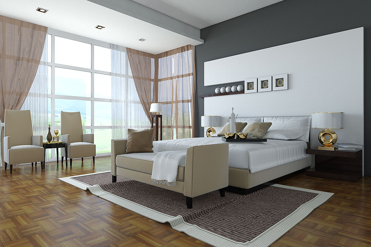 Greatest home decor accessories beautiful designer bedrooms for Bedroom layout design