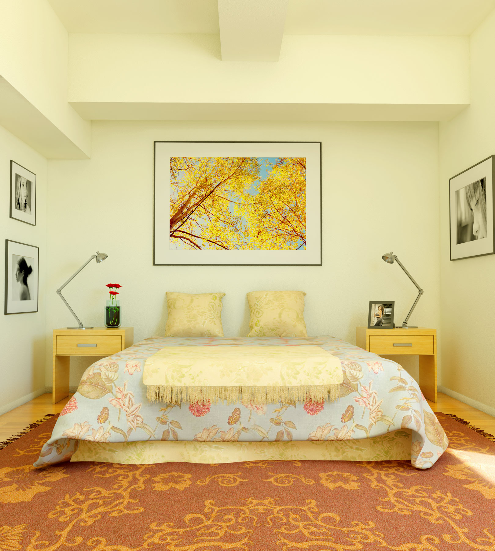 Wonderful Yellow Wall Colors Small Bedroom Designs 1620 x 1800 · 522 kB · jpeg