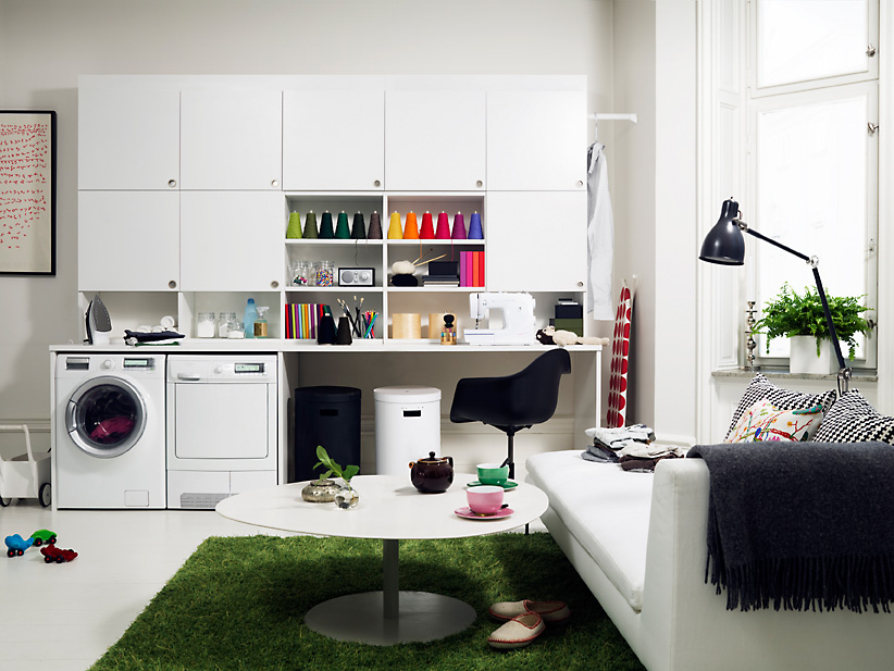 Laundry room storage organization and inspiration for Utility room ideas