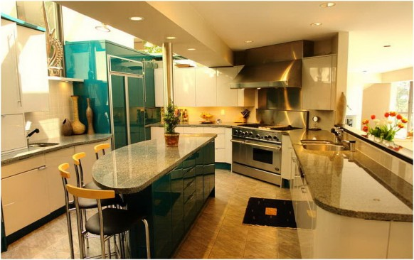 luxury compact kitchen dining