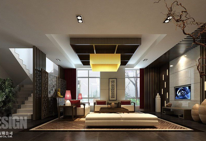 Interior design style chinese asian living room for Architecture orientale