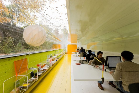 vibrant office interiors