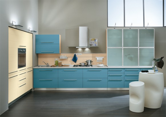 ala cucine blue kitchen