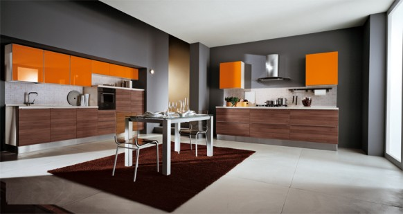 ala cucine orange kitchen