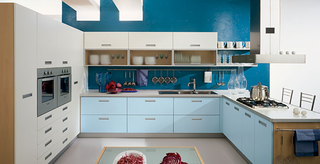 Blue Kitchens Impressive With Blue Kitchen Idea Photos