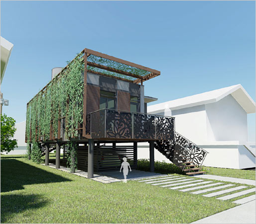 Sustainable homes for katrina victims from brad pitt for Sustainable house designs