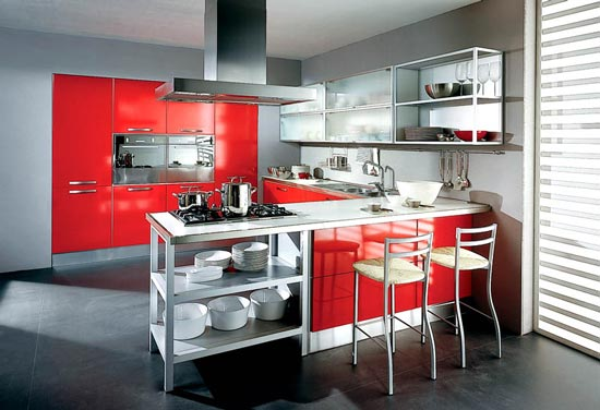 dema cucine red kitchen