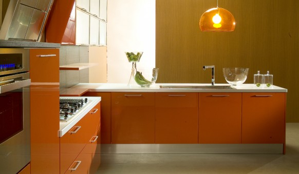 di Iorio cucine orange kitchen