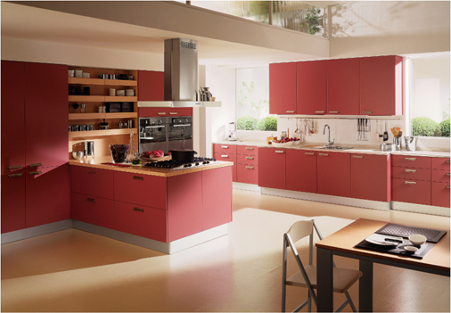 febal red kitchen