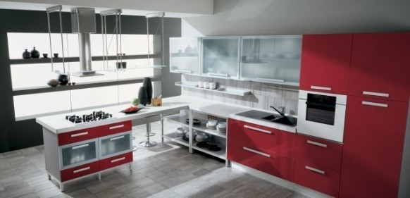 gatto cucine spa red kitchen